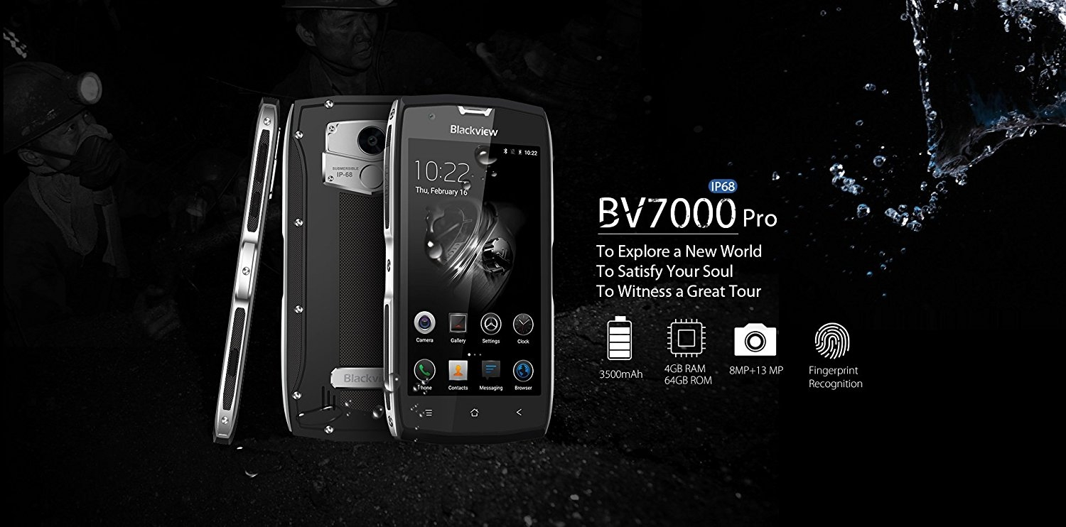 smartphone incassable blackview bv7000 pro